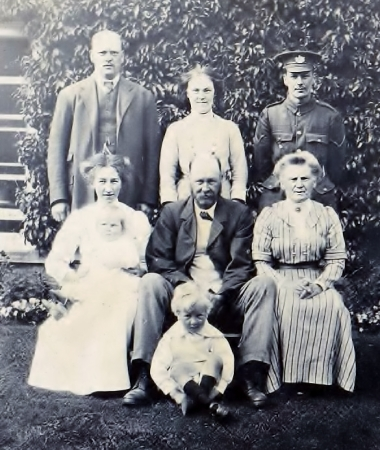 George Wilkins with his family (585x693)