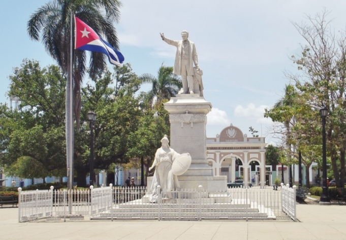 Statue in the main plaza